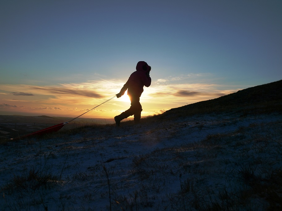 On a mission, sledging Isle of Man