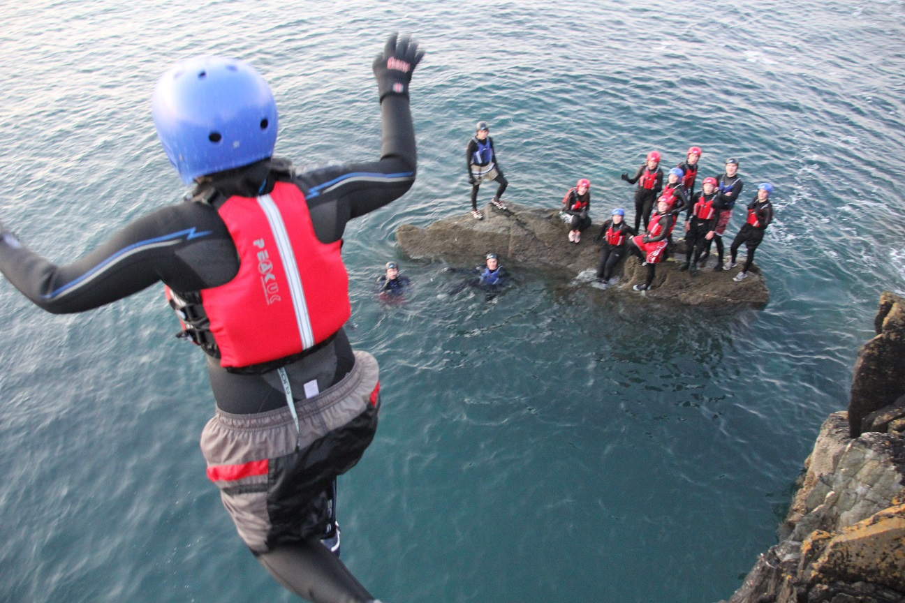 Exhilarating Coasteering experience, Isle of Man