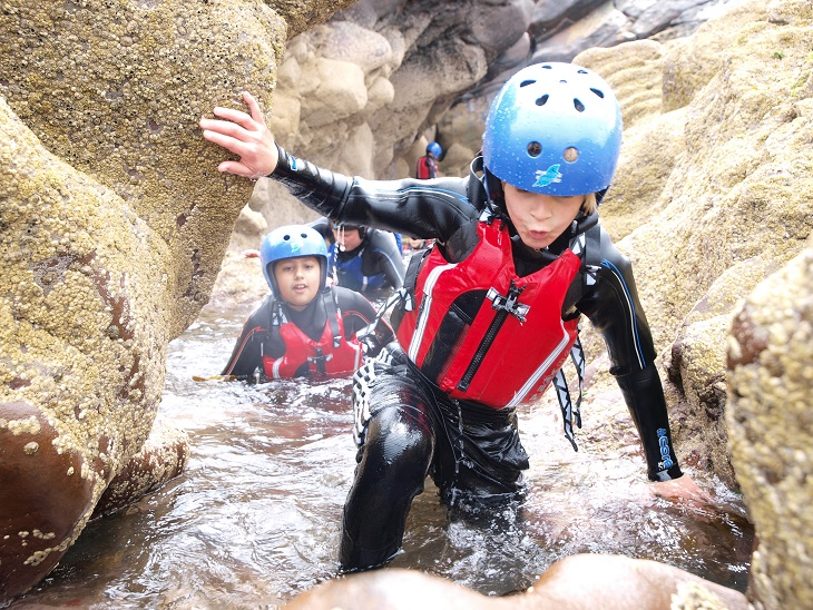 Junior Coasteering exploration, Isle of Man