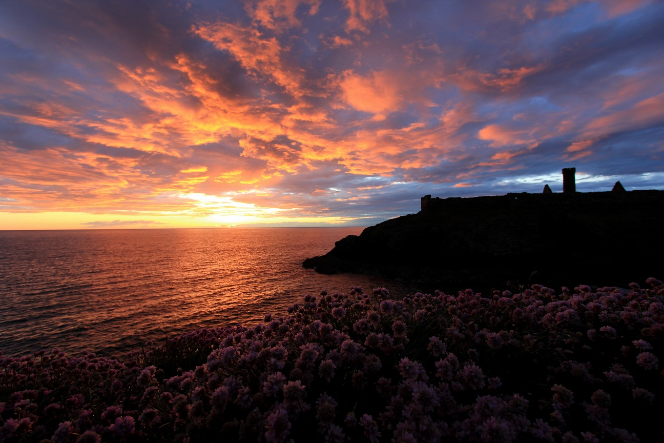 Sunset off St Patricks Isle, Peel, Isle of Man