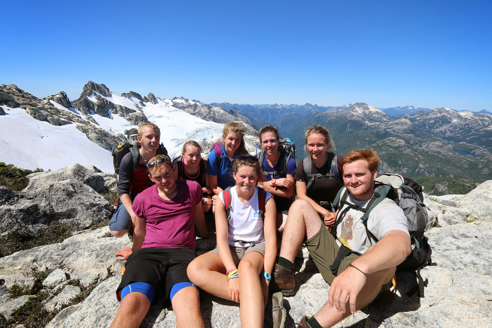 Youth Scholarship team on Mount Tom Taylor 2014 Expedition