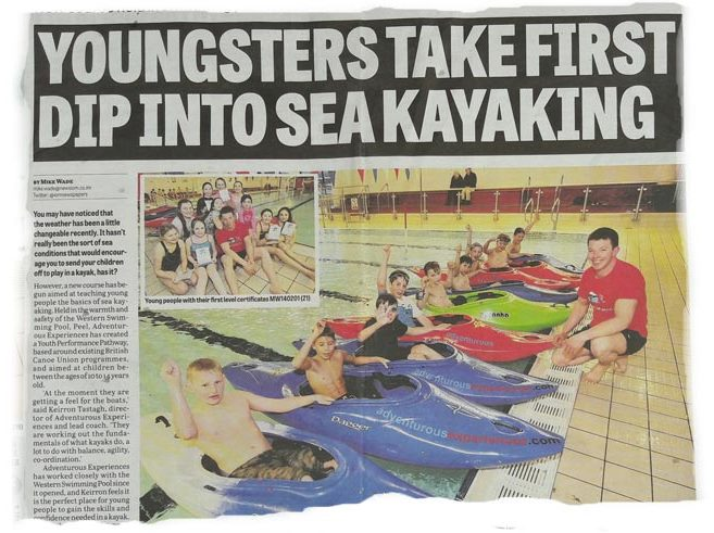 Junior Paddlesport official launch January 2014 - following successful pilot course