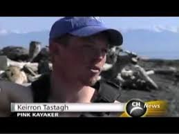Keirron Tastagh - Pink Kayaker, Vancouver Island 2007 Record Circumnavigation
